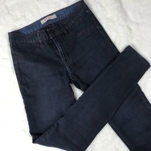 J Brand Navy Blue Coated Shiny Waxed Legging Jeans